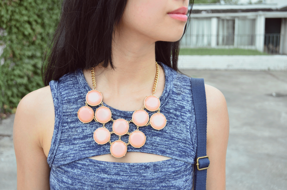 BP. Circle Stone Statement Necklace