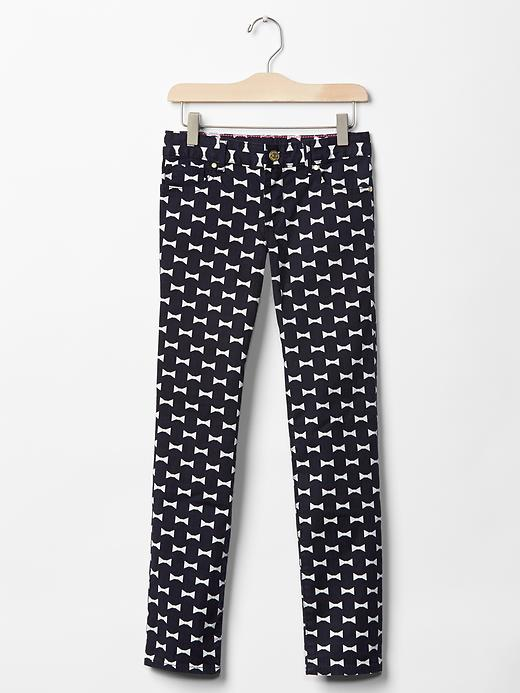 Kate Spade New York ♥ GapKids bow print super skinny jeans