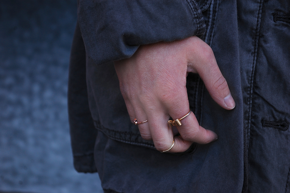 Rose Gold and Gold Rings from eleajewelry, Misa Jewelry, and Madewell