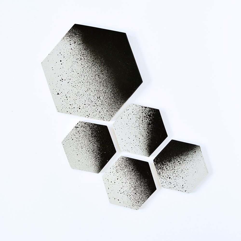45 Wall DesignConcrete Coaster Set and Trivet