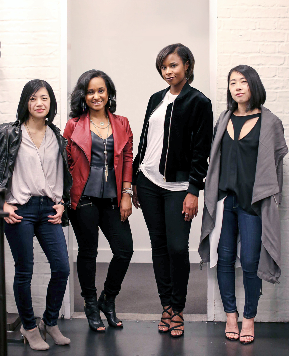 Elysia, Nia, Ana, and Ally in Paige Denim x Bloomingdale's