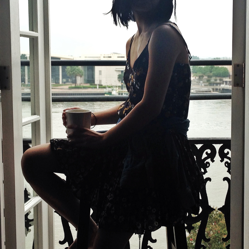 FP X Yuma Swing Dress and morning coffee