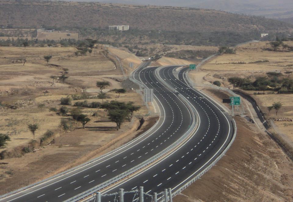 TheAddis Ababa-Adama Expressway in Ethiopia.