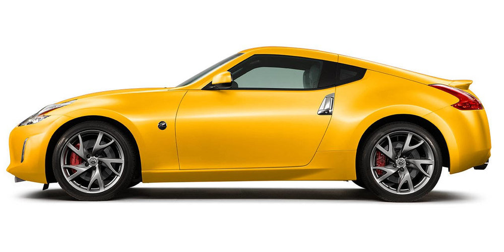 Oldie now, but still near perfect ... those wheels are slick and I love yellow paint. 350 horsepower. From $29,990.