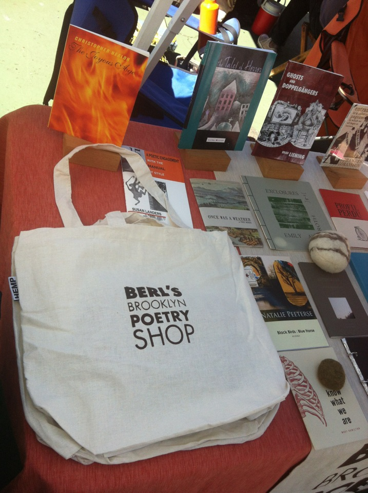 Handmade at berls berls brooklyn poetry shop our original berls business card it also comes in orange reheart Images