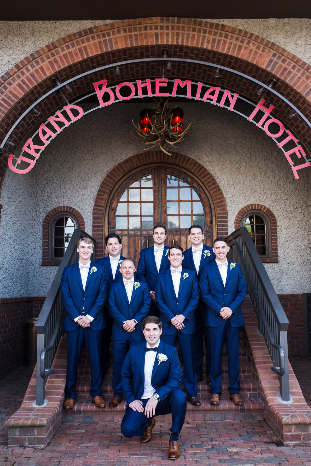 groomsman at Grand Bohemian, Asheville