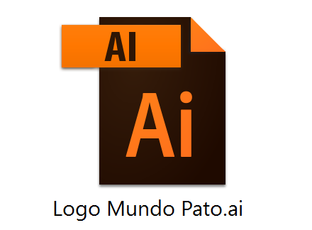 Mundo Pato corporate logo - Adobe Illustrator (.ai) format