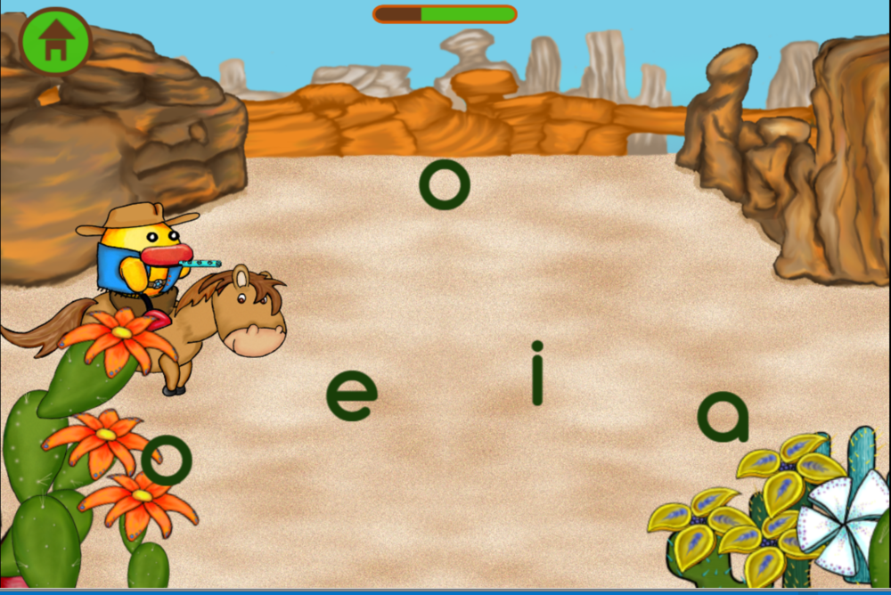 "Figure 1 - Screenshot from language skills learning material ""Cactus"""
