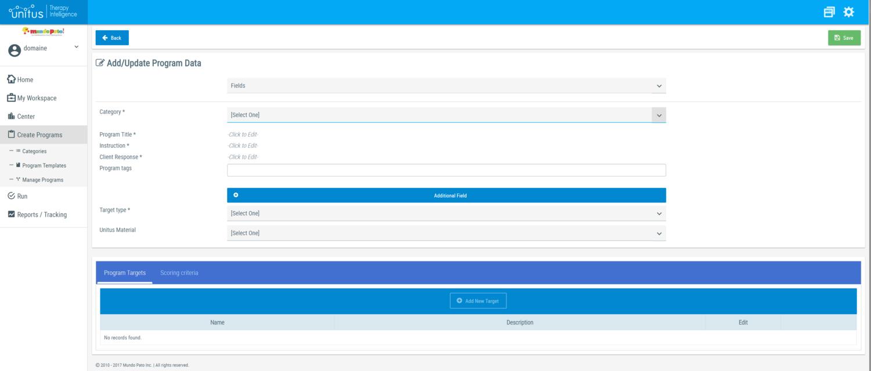 unitusti for program management data collection administration