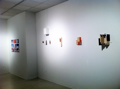 Pieces from the  Constructs  series wall mounted at Lawrence Alloway Gallery in 2013.