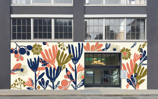 amf giant garden mural