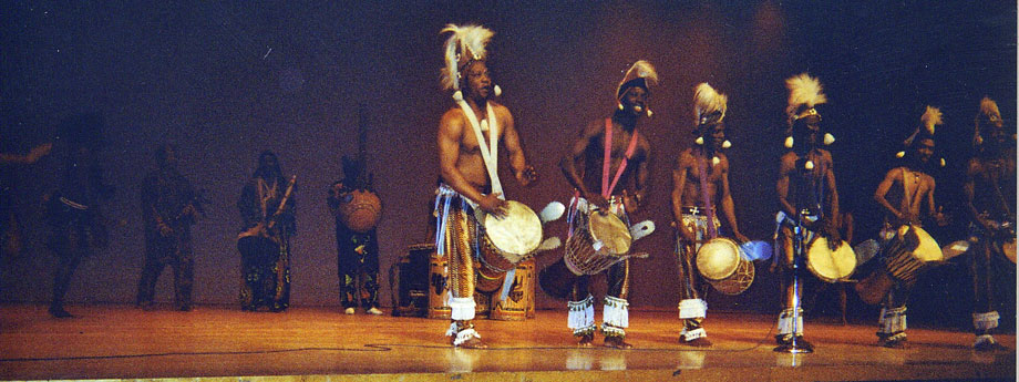 Abou performing with Les Ballets Africains