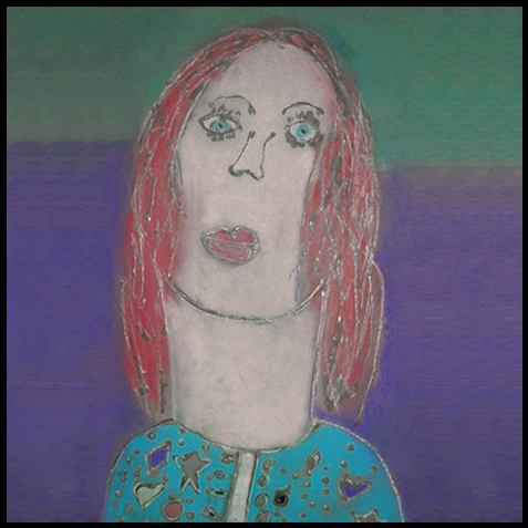 Self-portrait, age 7  Featured proudly in the collection of Mom & Dad for the last 2 decades.