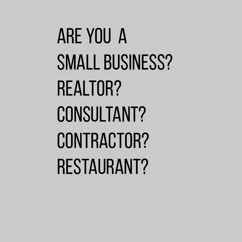 Are you a small business? -