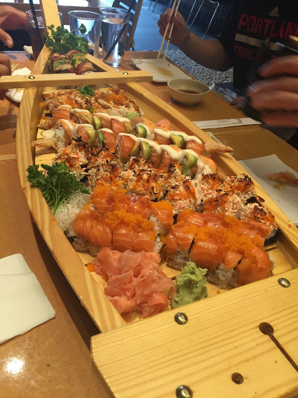 Sushi boat from Sinju Bridgeport Village