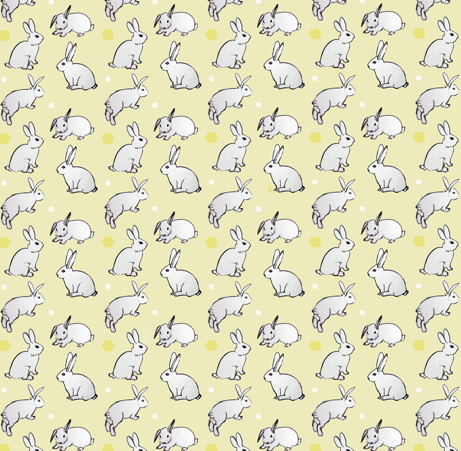 Bunny Pattern yellow