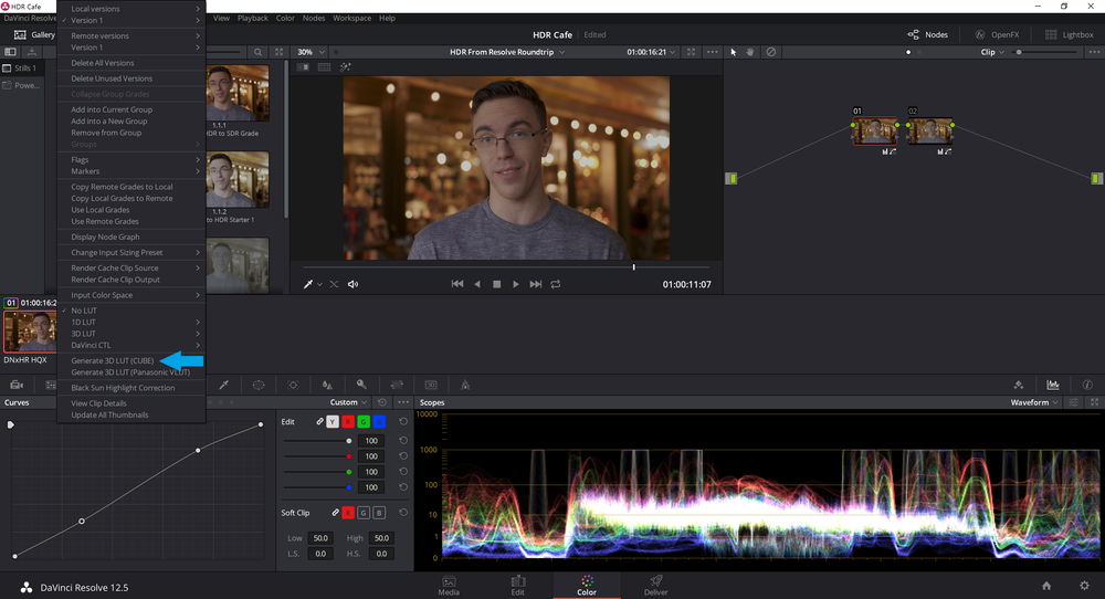 Creating a Custom HDR to SDR Conversion LUT in Davinci Resolve