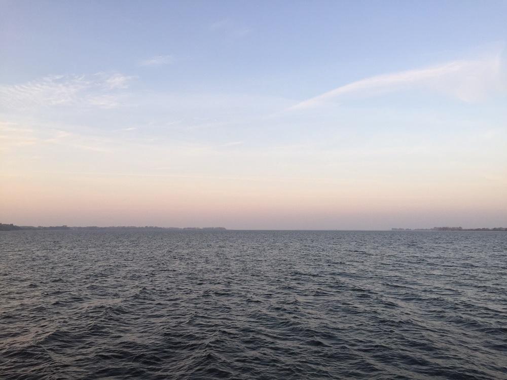 Stralsund har välligt fin strand utsikt , hela stan omringas av vatten.