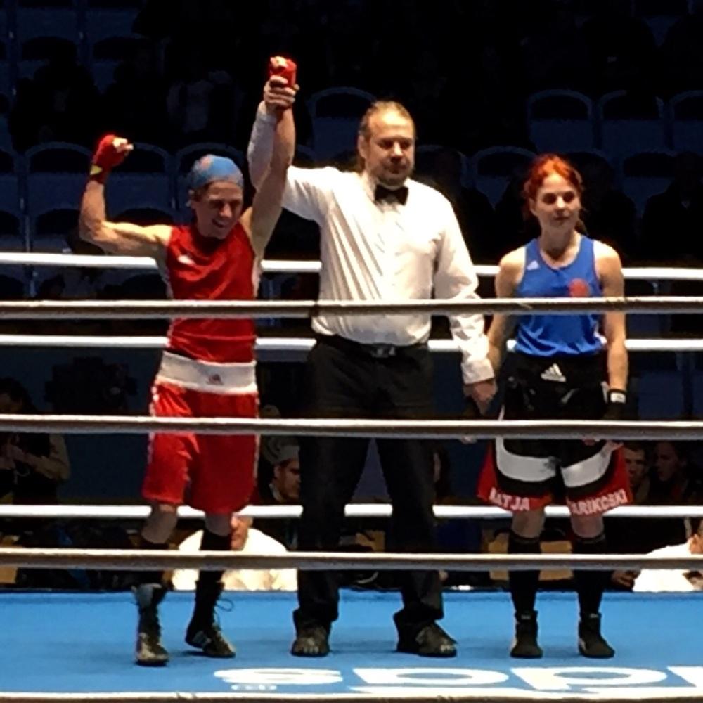 Lise boxar sitt explosiv starka Boxing i Final och ta Guldet i 48 kg
