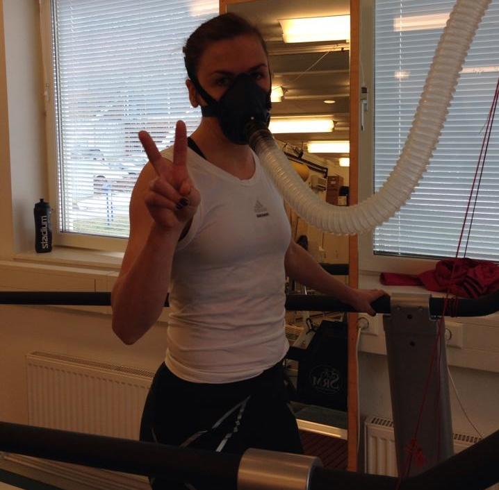 VO2MAX testet gör vi på Bosöns idrottlaboratorium. Lises värde ligger mellan 61-63.