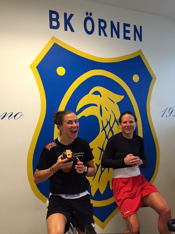 Lise och Satu känner varandra väll och har varit tränings och sparring läger tillsammans