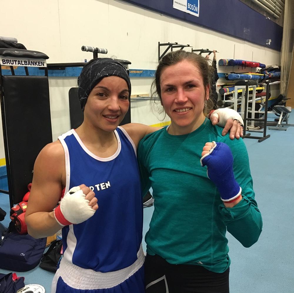 Sarah Ohramoune är riktigt rutinerat VM Guld och EM Guld medaljör , tuff och verkligen rolig sparring partner.