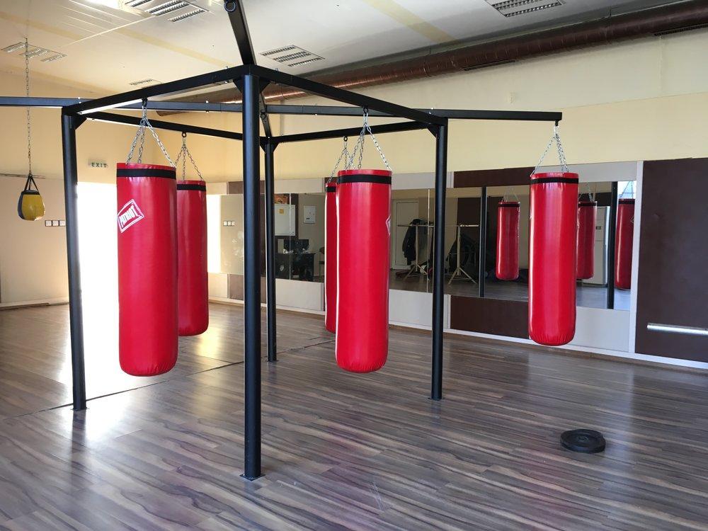 Lise och Love hittade en egen träningshall för lite egentid och träning.