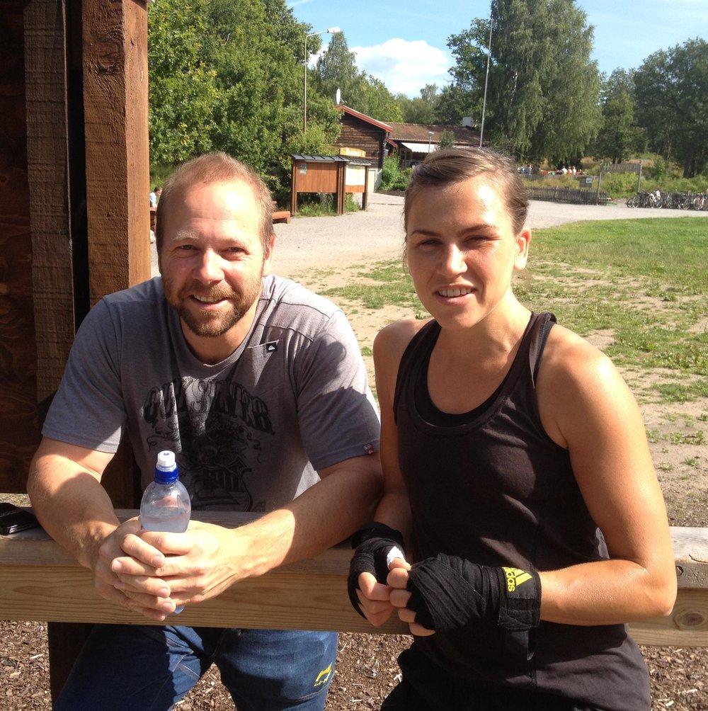Rickard Nilsson och Lise.