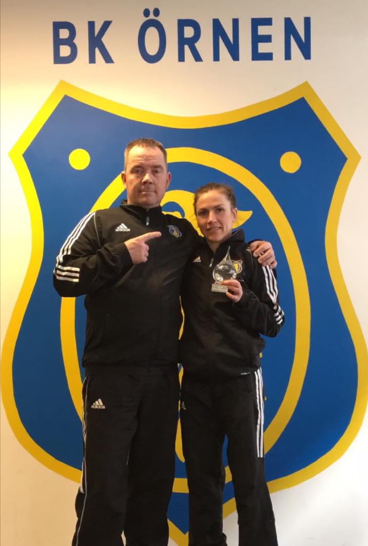 """Tränaren Petri """"Coach Perkele"""" och jag."""
