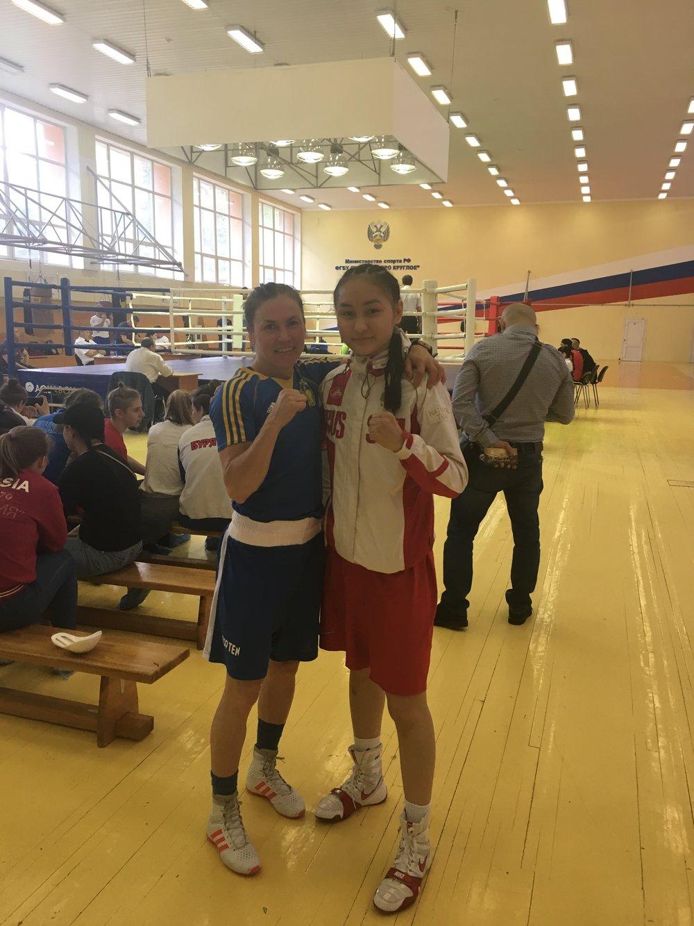 Lise fick möta Indira Shudabaeva i en testmatch som arrangerades på deras Olympiska center u Moskva.