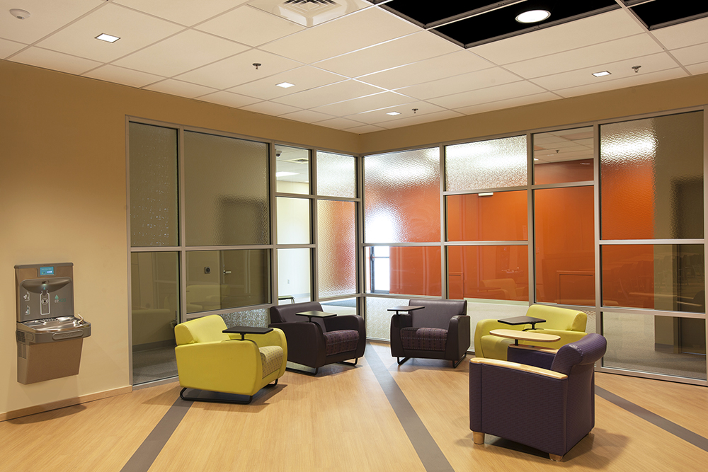 Frank Dittenhafer says Ryan Shank, who's now an Associate at the firm, is a perfect example of someone who's taken advantage of these learning opportunities to further his career. Seen above is the Student Center at HACC-York, which began transforming from an empty 3,000-square-foot space to a unique, modern gathering space. Shank was part of the project.