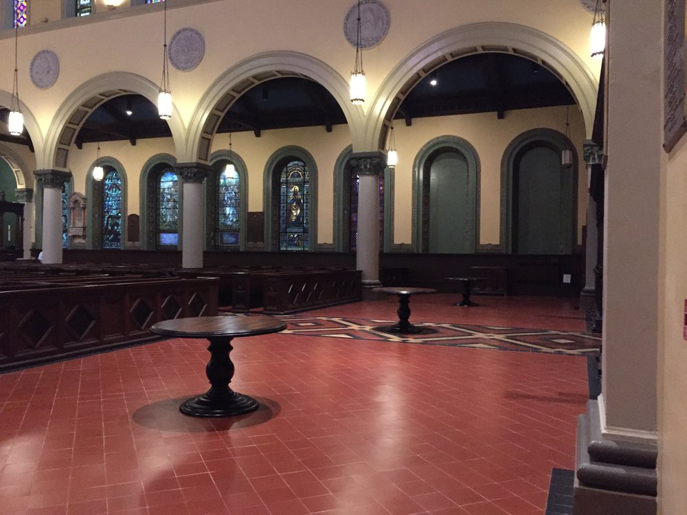 Old St. Paul Interior Gathering Space Now