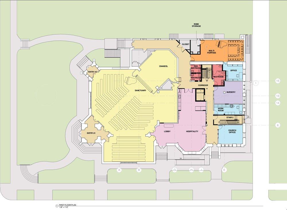 Roland Park - first floor plan