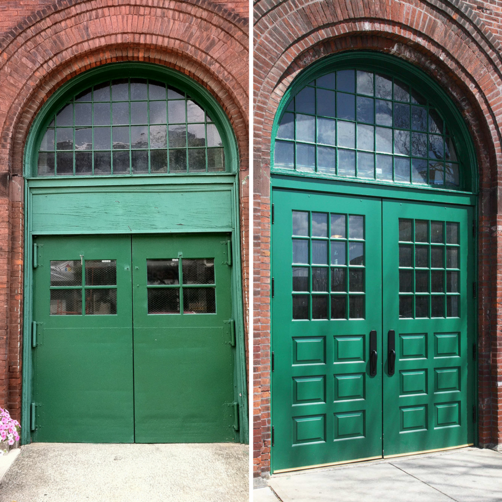 York Central Market House Exterior Door, Before and After
