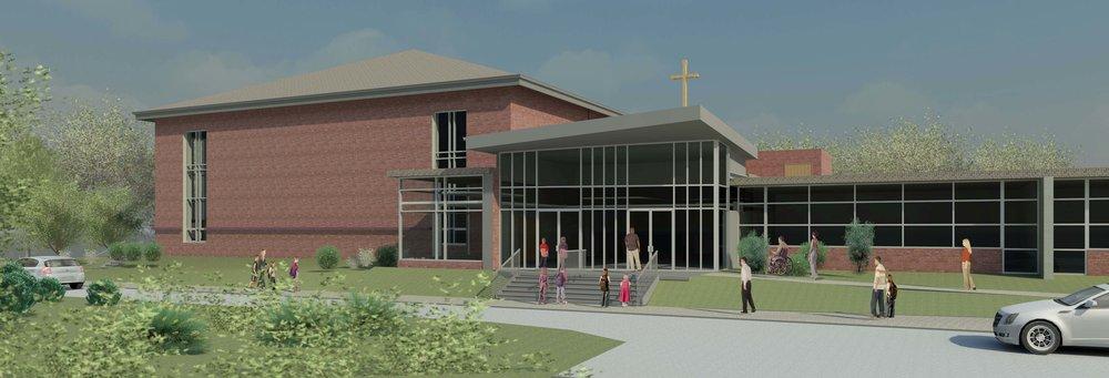 St. John the Evangelist Roman Catholic Church – Parish Center Rendering