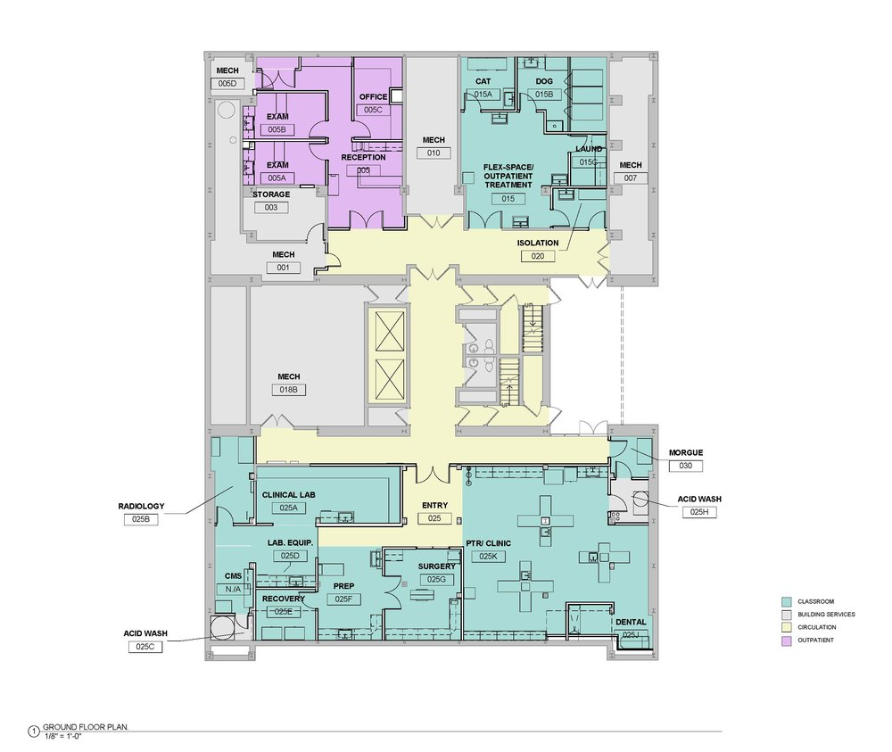Community College of Baltimore County - Vet Tech Floor Plan