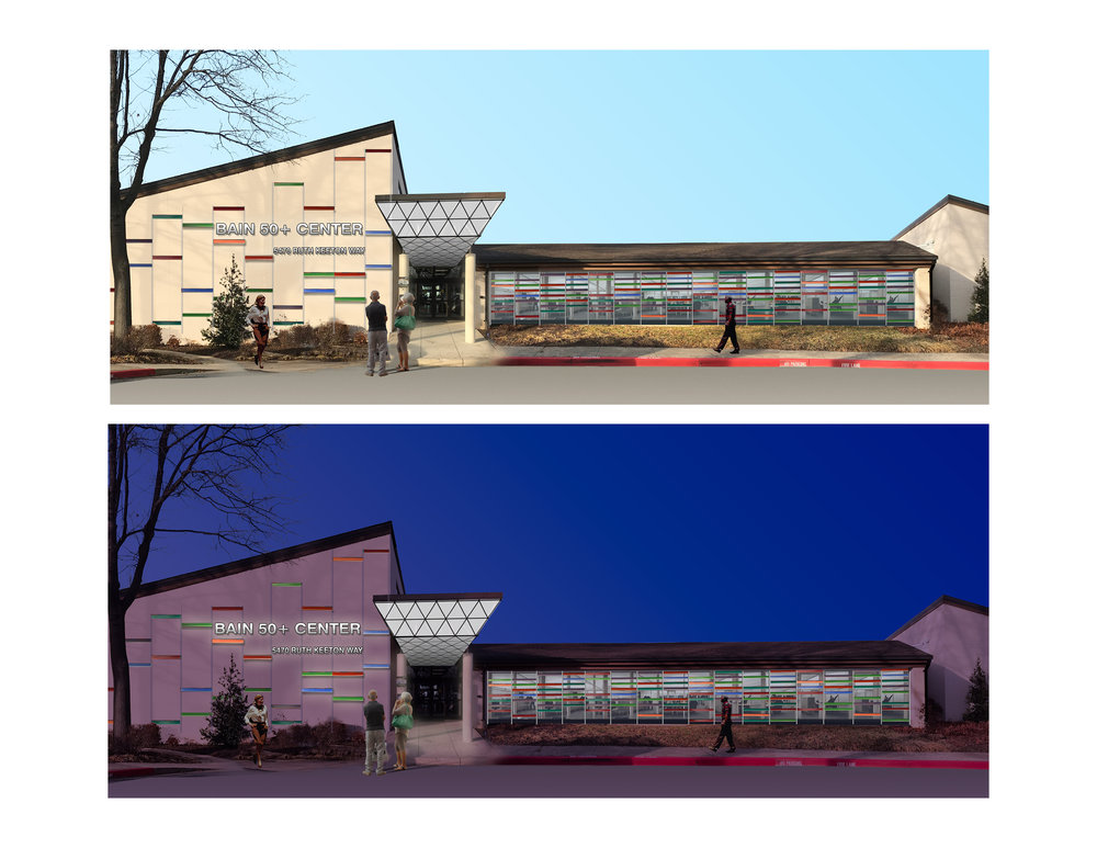 Renderings of the new exterior