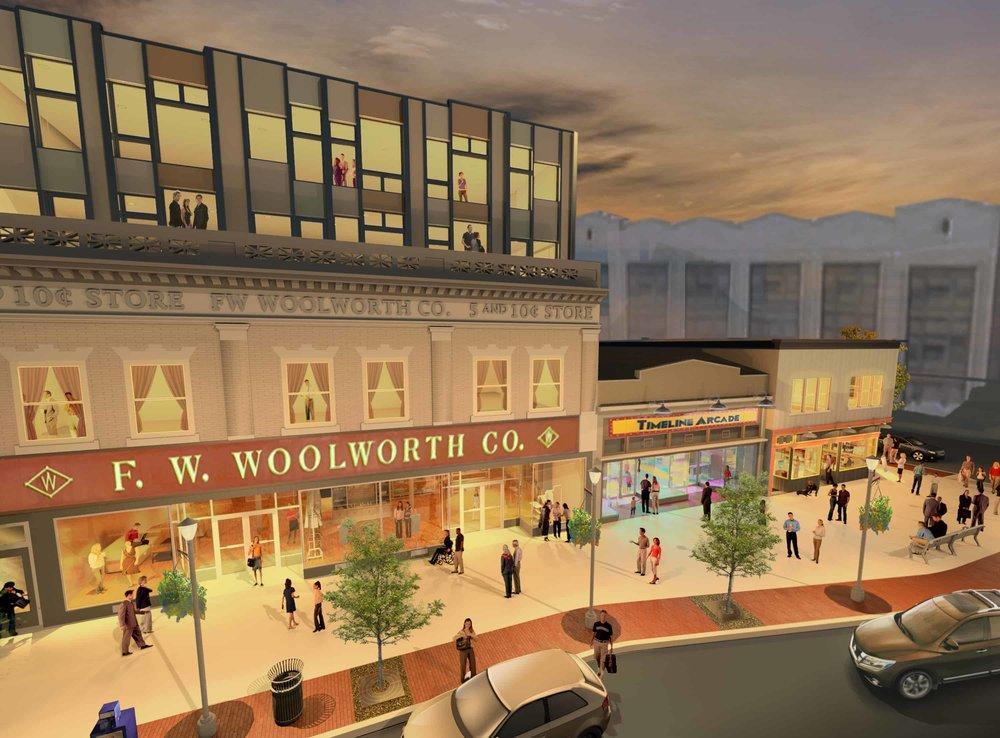 Woolworth renderings