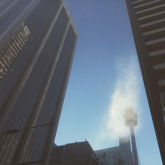 Lifting Fog #sky #clouds #fog #lookup #centrepointtower #city