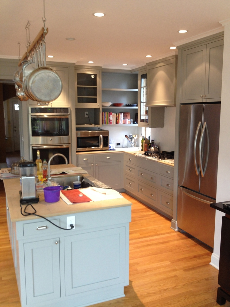 DC kitchen. Counter top not in yet.