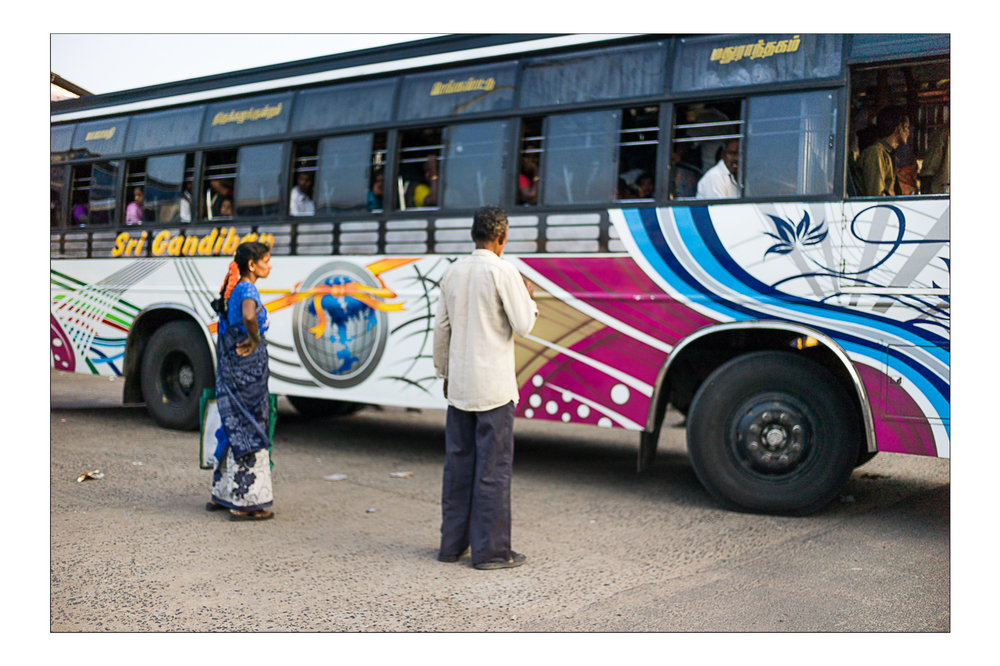 Bus station, Chennai 2014