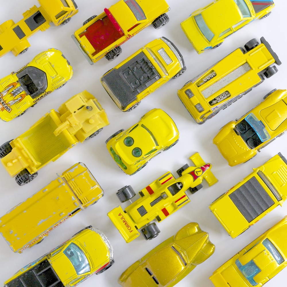15 yellow cars