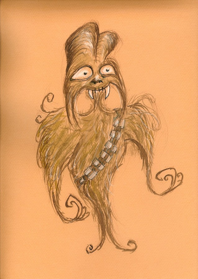 Star Wars Burton Style : Chewbacca