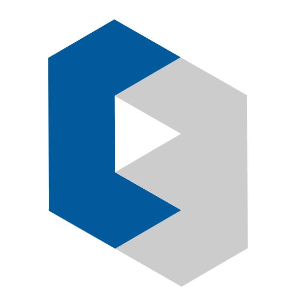 Les triangles font trop fouillis. Je simplifie et remet droit le logo.