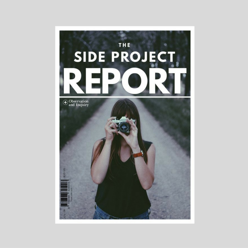 Pre-Order today. This is the 144-page report that will be launched at Do Side Project. March 03. London. (Photo credit:Ezra Jeffrey. Image sourced from Unsplash.