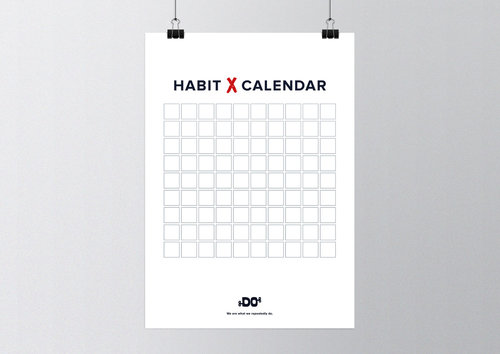 the do lectures poster 90 day habit calendar a3