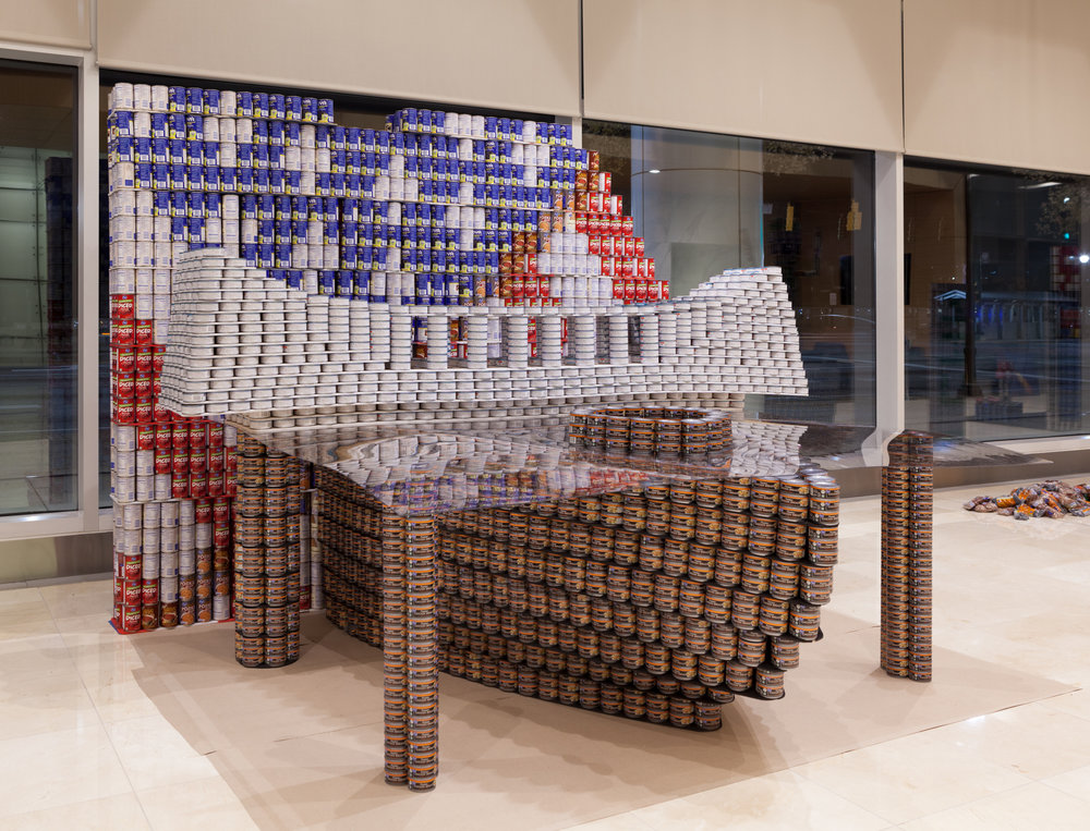 "Best Original Design & Most Cans: ""Hunger: A State Which Will Live in Infamy"" (Steven & Wilkinson + Whiting-Turner)"