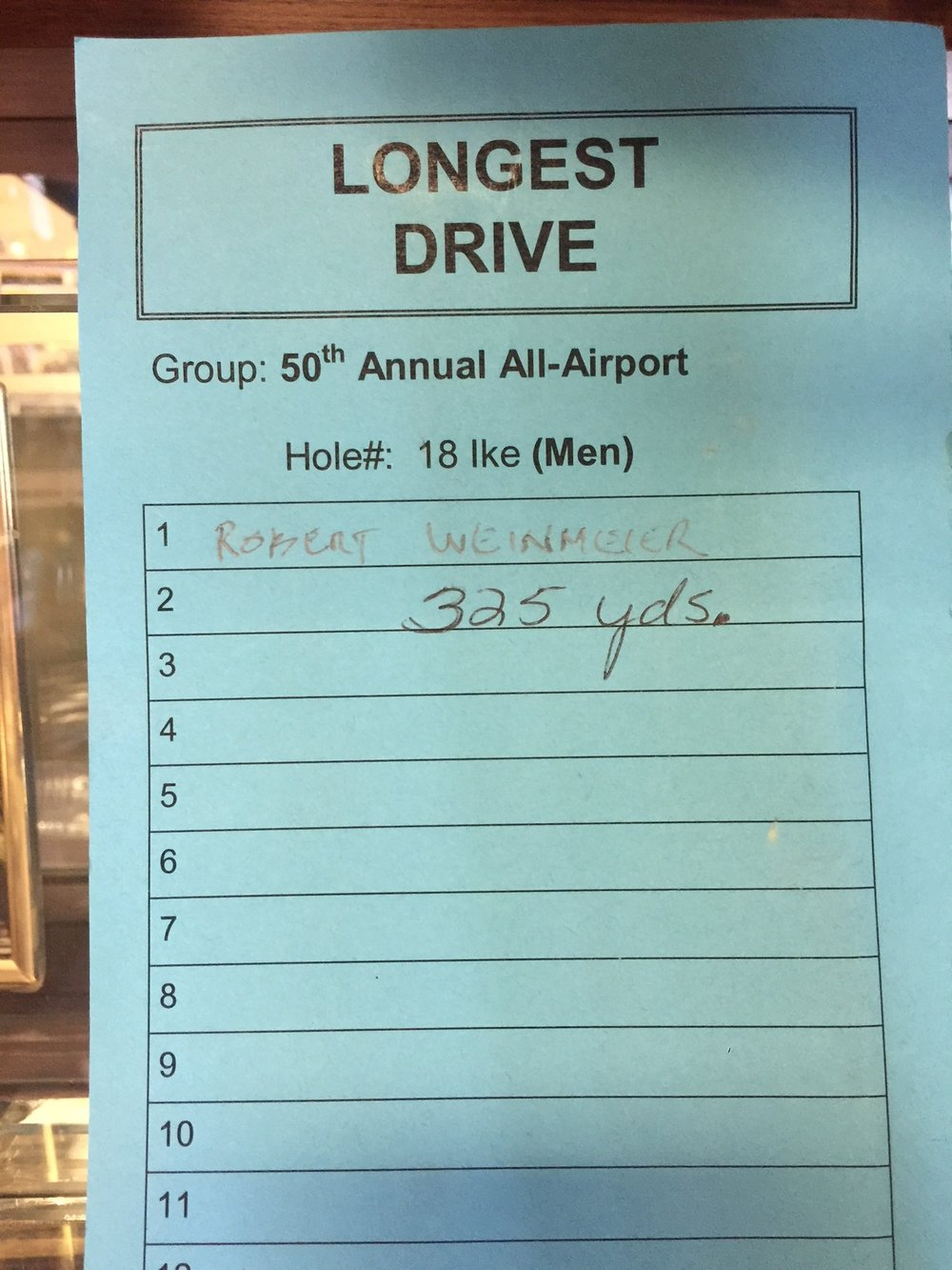 One of many long drive contests I've won