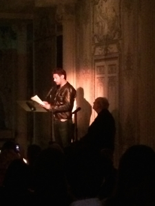 James Franco reading ekphrastic poetry.