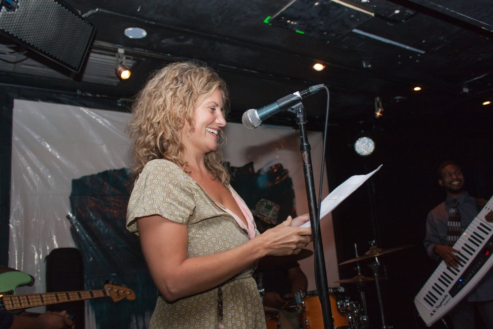 Nicole Callihan reads at Mr. Hip Presents: Le Poisson Rouge in September 2014. #MrHipNYC